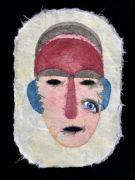 Face 2 (Mask) - 26x18,5 cm, Akvarel og tusch på japanpapir, 2019