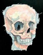 Skull - 26,5x19 cm, Akvarel og tusch på japanpapir, 2019