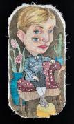 Third Eye - 45x23 cm, Akvarel og tusch på japanpapir, 2019