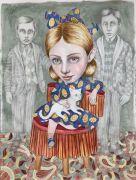 """Familiespøgelser - 2020, Akvarel på papir.  Fra udsmykningen """"Erindringsvæg"""""""