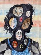 The New Girl - 2020, 41x31 cm, Akvarel på papir