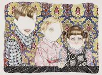 Siblings - _2013, 76 x 57 cm. Watercolour and Indian Ink on paper.